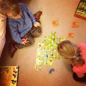 Playing Kids of Carcassonne